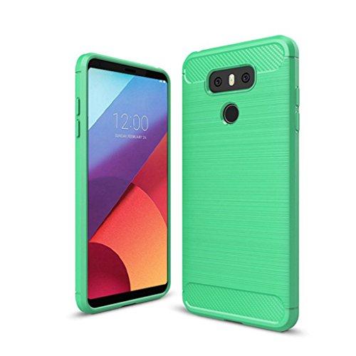 Funda LG G6 Pro,Funda Fibra de carbono Alta Calidad Anti-Rasguño y Resistente Huellas Dactilares Totalmente Protectora Caso de Cuero Cover Case Adecuado para el LG G6 Pro E