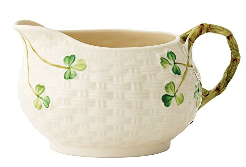 Belleek Group 0020 Shamrock Cream Jug, 5.25-Inch, White (Small Jug Cream)