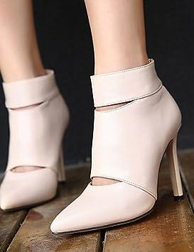XZZ/ Zapatos de mujer - Tacón Stiletto - Tacones / Puntiagudos - Botas - Vestido