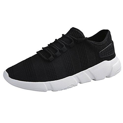 Braloneesc Men's Sneaker Slip On Sport Shoes Sneakers Outdoor Lightweight Running Leisure Breathable Fitness Mesh Gym Air Black