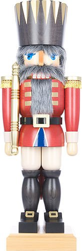 German Christmas Nutcracker King red - 71,5 cm / 28 inches - Christian Ulbricht by Authentic German Erzgebirge Handcraft