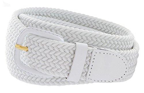 Hagora Men's Braid Rows Design Stretchy Leather Element 1-1/4