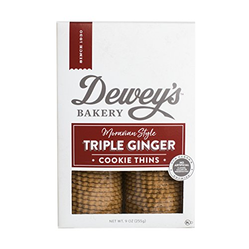 - Salem Baking Co. Dewey's Moravian Style Ginger Cookie Thins 9 Ounce (Triple Ginger)