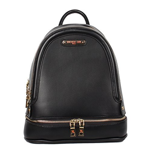 Nicole Lee Women's Multi-Functional Smart Lunch Insulated Bottom Compartment Backpack Black One Size [並行輸入品]   B07K1FTQPC
