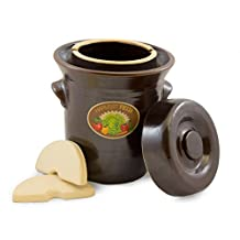 TSM Products 31040 Harvest Fiesta Fermentation Pot with Stone Weight, 5-Liter
