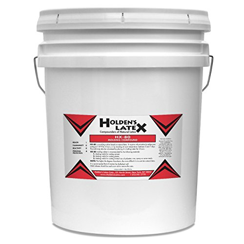 HX-80 Natural Liquid Latex Mold Making Rubber (5 Gallon - Gallon Pail Liquid 5
