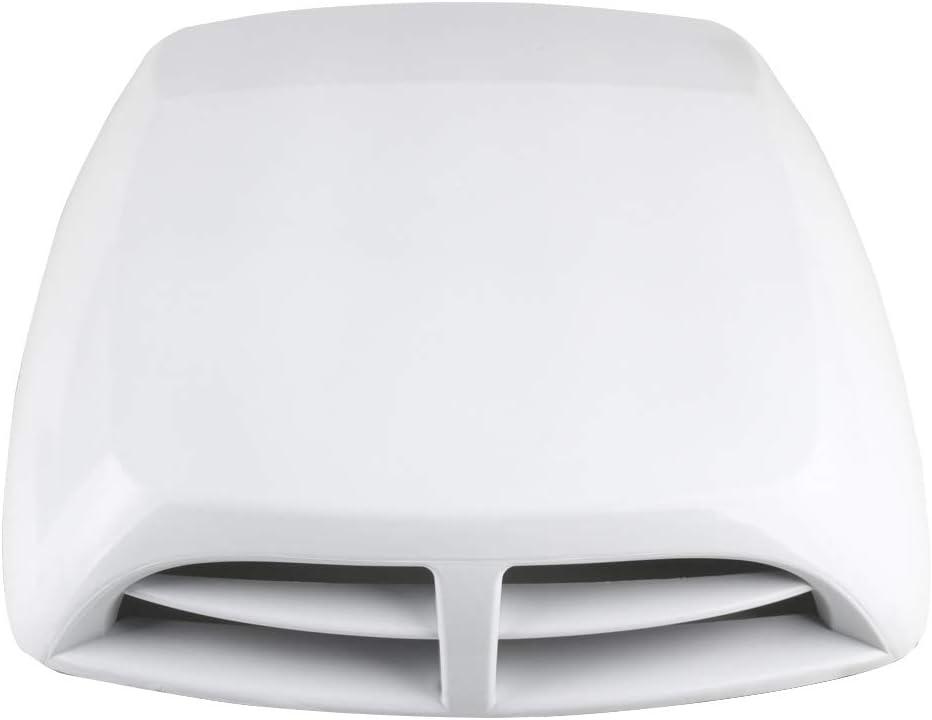 Larcele Tomas de Aire para Coche Decorativo Filtros de Aire Ingesta de flujo de aire Calcoman/ías de ventilaci/ón JFK-03 Plata