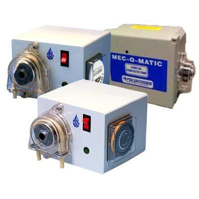 (MEC-O-Matic 2400T Grease Trap Dispenser Pump UT24-XA-LBAUXXX 115VAC 2.5 GPD / 25 psi max Viton Tubing)