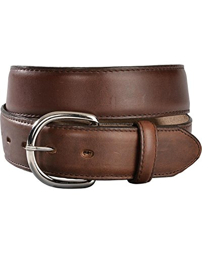 [Silvercreek Men's Silver Creek Classics Oiled Western Belt Brown 38] (Silver Classic Belt)