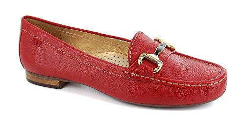 Marc Joseph New York Vrouwen Grand Straat Loafer Rode Korrelig
