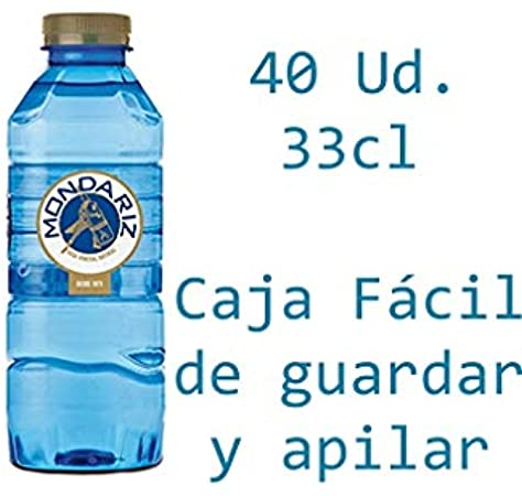 Caja de 40 Botellas de 0,33L de MONDARIZ Agua Mineral Natural sin Gas - Total 13.2 Litros.: Amazon.es: Alimentación y bebidas