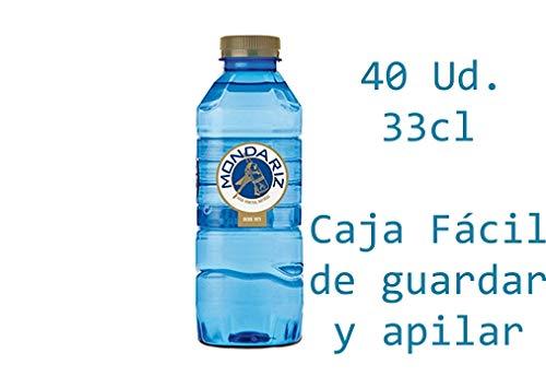 Caja de 40 Botellas de 0,33L de MONDARIZ Agua Mineral Natural sin Gas -