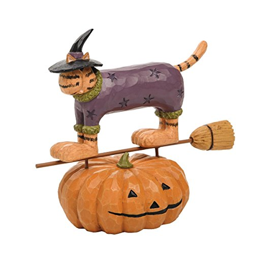 Williraye Studio Halloween (Foreside FFGH04767 Williraye Studios Flying Witch Cat Home)
