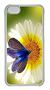Customized iphone 5C PC Transparent Case - Butterfly Flower Cover by lolosakes