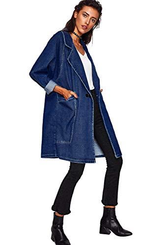 Jeans Steampunk Jacket Capisalla Color Giacca Oversize Maniche Lunghe Autunno Denim Aperto Donna Ragazza Giacche Inverno Felpa Giubbotto Davanti Di 05 Cappotto Cardigan Vintage Parka Trench Lunga Con Cappuccio Oxq5BX