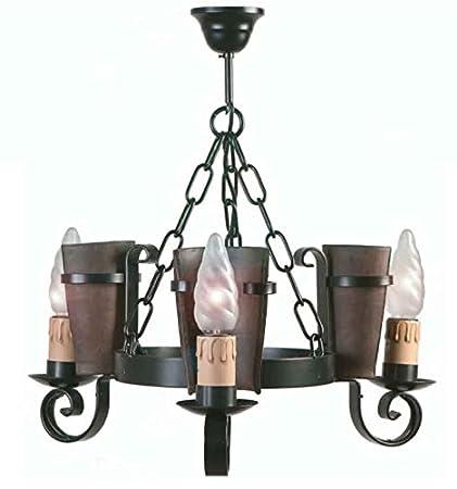 Lámpara rústica Eunice - Grupo 1 - Oro viejo, Lámpara de 3 ...