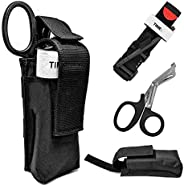 3 in 1 Trauma Kit Tourniquet with Trauma Shear and Storage Pouch Holder Outdoor Tactical Emergency First Aid K