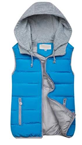 Sicurezza Outwear Puffer Slim Fit Blu Senza Maniche Invernale Womens Cappuccio Imbottitura Giubbotto Cotone Con 4qdwWwP5