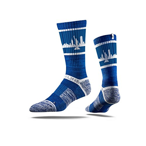 New York City Skyline Retro Blue Strideline Men's Athletic Socks