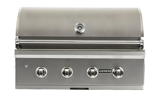 (Coyote S-Series 36-inch 4-Burner Built-in Natural Gas Grill with Rapidsear Infrared Burner & Rotisserie - C1sl36ng)