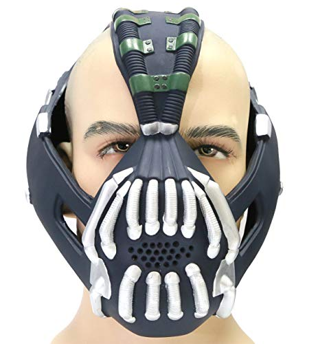 Xcoser Bane Mask Costume Batman TDKR Full Adult Size V2 version]()