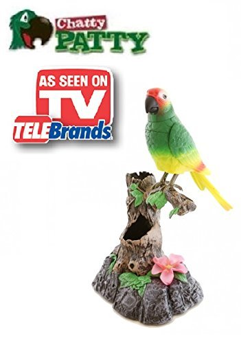 Seen Tv Toys (Chatty Patty - Electronic Talking Repeating Parrot Parakeet Bird - As Seen on TV)