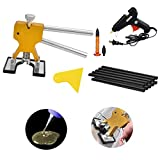 MMPP PDR Tools Golden Dent Lifter Dent Remover Paintless Dent Repair Tools Kit PDR Puller Kits with Hot Glue Gun Glue Sticks Scraper Tap Down Tools …