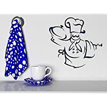 Wall Stickers Vinyl Decal Chef Hat Apron Towel Bon Appetite (n238) Lime Green