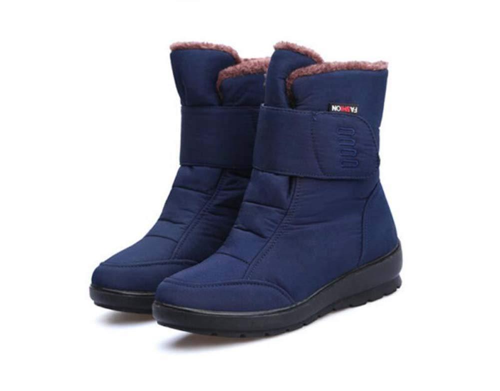 Bleu Bottes De Neige Hautes Chaussures De Coton Haut De La Femme Non-Slip Imperméable à l'eau Chaude Femmes Enceintes Bottes Mère Chaussures De Plein Air Casual Chaussures De L'ue Taille 35-43 38EU