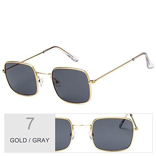 Gafas De Metal Sol Mujer De Sobredimensionado Gray TIANLIANG04 Sol Gold Plateado Marco Gafas Con Claro De PR5qwx5HX