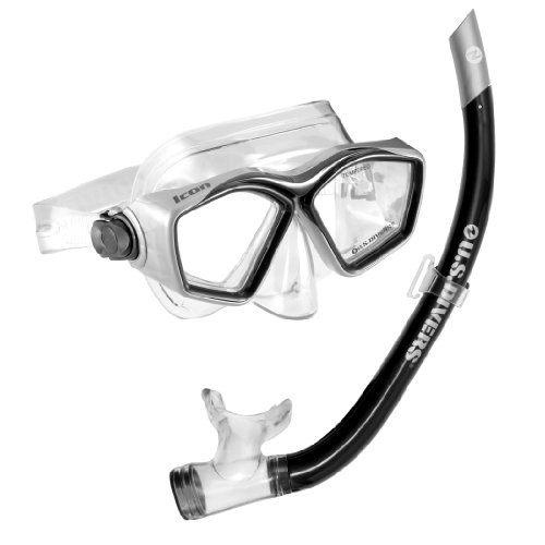 U.S. Divers Icon Mask and Airent Snorkel, Black (Best Caribbean Diving Destinations)
