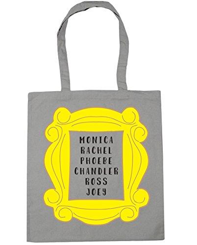 HippoWarehouse Phoebe Rachel Monica Joey Chandler Ross en marco bolsa de la compra bolsa de playa 42cm x38cm, 10litros gris claro