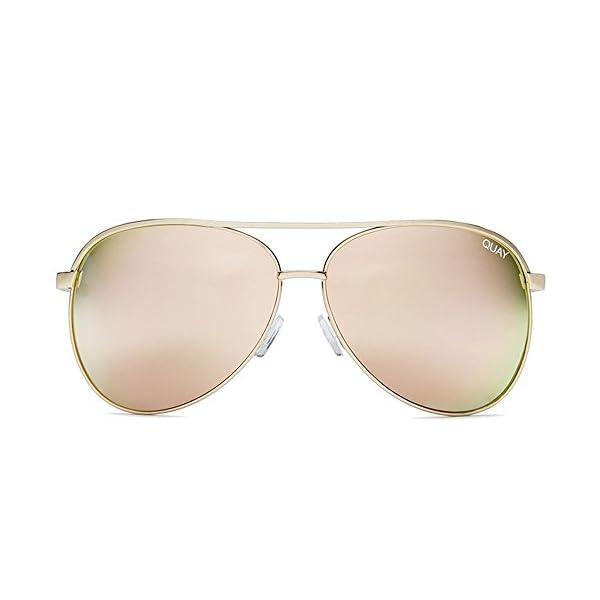 Quay Australia VIVIENNE Women's Sunglasses Oversized Aviators Metal