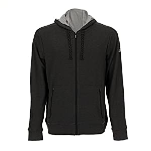 ASICS French Terry Zip Hoodie (Men's),Charcoal, XL