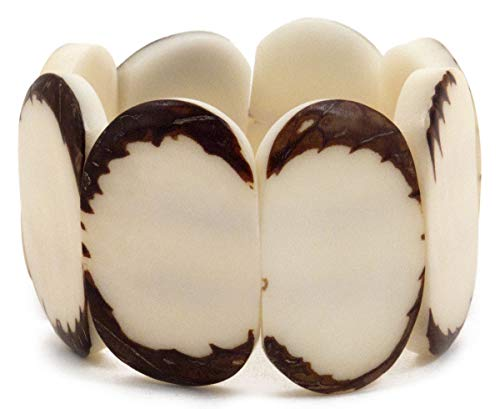 ORGANIC TAGUA JEWELRY Carved Disc Bracelet Ivory, 1 ()