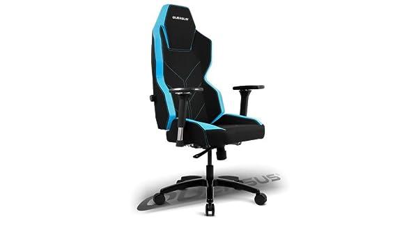 quersus Geos 701 Asiento Gamer Tejido, Negro Azul, L- L - XXL: Amazon.es: Juguetes y juegos
