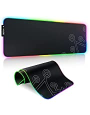 Dierya RGB Gaming Mouse Pad Large, Durable Oversized Glowing LED Extended Mousepad, Non-Slip Rubber Base Computer Soft Keyboard Pad Mat(31.3X 11.9in)