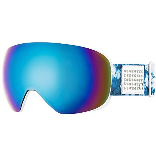 Roxy Popscreen Women's Snow Racing Snowmobile Goggles Eyewear - Clematis Blue/Amber Rose ML Turquesa/One Size (Roxy Goggles)