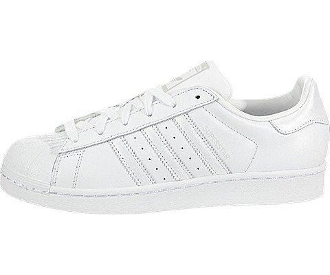 adidas Originals Women's Superstar Shoes Running White/Grey, 7 M US