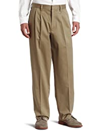 Men's Relaxed Fit Signature Khaki Pant-Pleated D4
