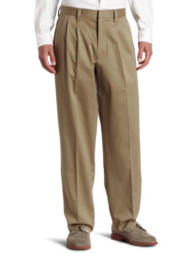 Dockers Men's Relaxed Fit Signature Khaki Pants - Pleated D4, Dark Khaki (Cotton)-Discontinued, 38W x 32L