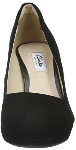 Mujer Tacón Kendra Sienna Negro para Suede Clarks Black de Zapatos Zx6fppq