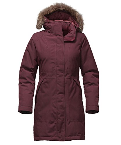 The North Face Women's Arctic Down Parka (Sizes S - L) - deep garnet red, xs