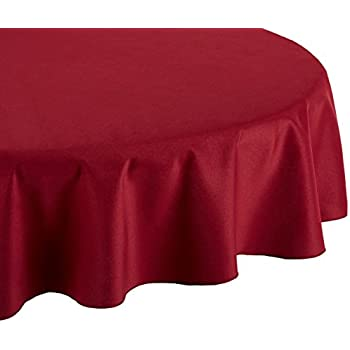 LinenTablecloth 70 Inch Round Polyester Tablecloth Burgundy