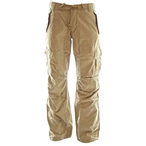 Molecule Women's Rope-Belted Relaxed Fit Regular Rise Khaki Cargo Pants | USA 6/M (Tag M) Desert Khaki Cream ()