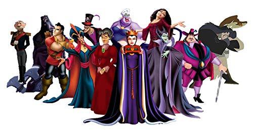 Disney Villian Cruella De Ville Ursula Scar Maleficent Jafar Captain Hook Stepmother Governor Ratcliffe Evil Queen Gaston Edible Cake Topper Image ABPID00922 - 1/8 sheet -