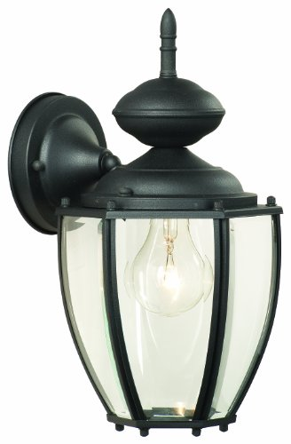 Thomas Lighting SL94707 Park Avenue Collection 1 Light Outdoor Wall Sconce, Matte Black
