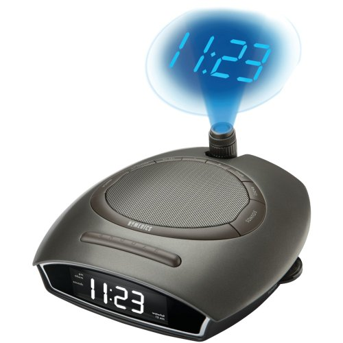 Homedics SS-4510B Soundspa Autoset Clock - Projection Clock Homedics Radio