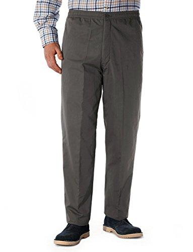 Hommes Fleece Lined Tirage Thermique Élastique Cordon Pantalon Noir 117cm x 84cm