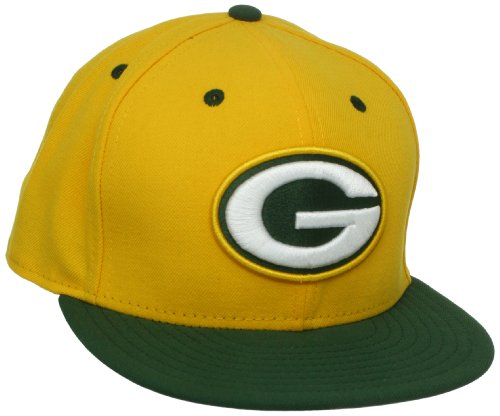 NFL Green Bay Packers Two Tone 59Fifty Fitted Cap, Gold/Green, 7 1/4